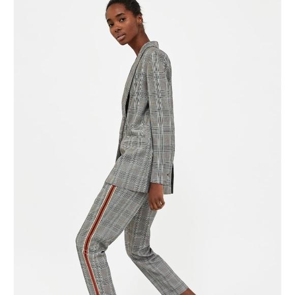 93f2dd26 Zara Jackets & Coats | Nwt Double Breasted Check Blazer | Poshmark